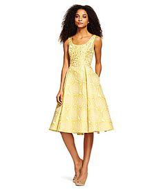 Adrianna Papell Beaded Sleeveless Party Dress #Dillards