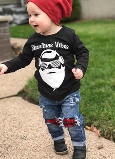 9f8e6c485c19 Make him the coolest kid on the block. Toddler Boy Christmas OutfitsBoys  Christmas ShirtHoliday ...