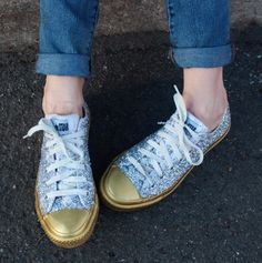 How to Glitter Up Your Old Chucks