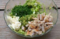 salata de avocado cu pui Prosciutto, Potato Salad, Grains, Good Food, Rice, Potatoes, Keto, Ethnic Recipes, Kitchens