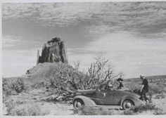 Georgia O'Keeffe in Monument Valley, Utah :: Photography She was with Ansel Adams on this trip, but photographer of this photo is unknown.