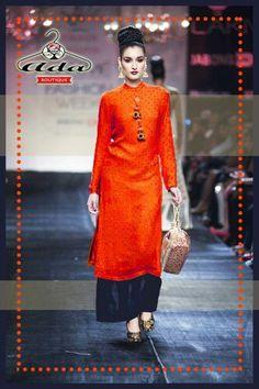 Orange kurta plazzo set