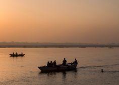 Sunrise on the Ganga - Varanasi India Photography by Nick Laborde