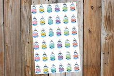36 Car Wash Stickers - Erin Condren, LimeLife, Inkwell, Plum Paper, Filofax, Agenda.