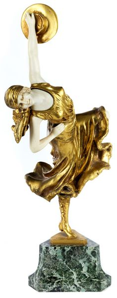 Arabian Woman Harem And Dancer Bronze Sculpture Collector Edition Art Deco T