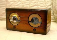 Old Antique Wood Wilcox Gay Vintage Tube Radio Restored Working Table Top | eBay