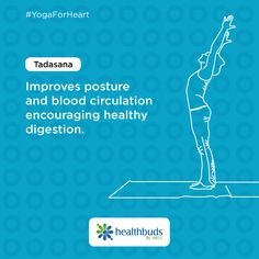 Improve your posture, blood circulation and a healthy gut function with Tadasana. #YogaForHeart #WorldHeartDay