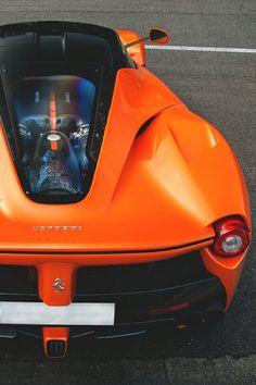 Orange Ferrari LaFerrari~