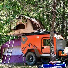 Small Camper Trailers, Off Road Camper Trailer, Small Campers, Expedition Trailer, Overland Trailer, Off Road Teardrop Trailer, Camper Van Life, Campervan Ideas, Mini Camper