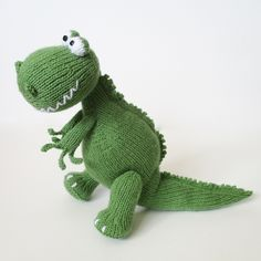 https://flic.kr/p/GjDn9M | Trex and Bronty Dinosaurs | Knitting pattern designs by Amanda Berry