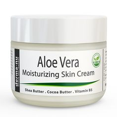 Aloe Vera Dry Skin Cream - Best Remedy Skin Repair Cream by Derma-nu - Organic Treatment for Face & Body - Treatment for Psoriasis and Eczema Therapy - Non-greasy and Fast Absorbing - -- Special product just for you. : Best Skin Care Lines Cream For Dry Skin, Skin Cream, Aloe Vera Lotion, Centella, Organic Aloe Vera, Body Treatments, Natural Skin, Cleanser, Natural Home Remedies
