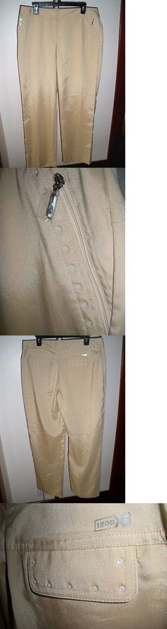 Pants 181148: Nwot Women S Izod Xfg Xtreme Function Bejeweled Golf Pants Sz 12 Pale Gold -> BUY IT NOW ONLY: $35.99 on eBay!