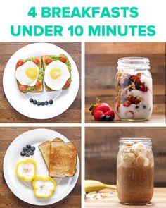 Breakfast Under 10 Minutes 4 Ways by Tasty