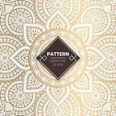 Ornamental padrão de ouro de luxo Vetor grátis