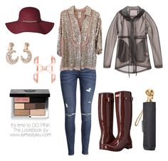 """""""It's time to GO PINK  The LookBook by www.lemestyleu.com"""" by lemestyleu on Polyvore featuring H&M, Sonia Rykiel, Hunter, TomTom, Bobbi Brown Cosmetics and Alexander McQueen"""