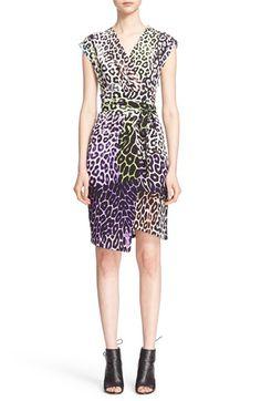 JUST CAVALLI Leopard Print Wrap Dress. #justcavalli #cloth #