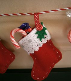 Handmade/ Felt/ Christmas Decoration/ door Gailsgiftsandglamour