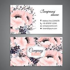 White business card with beautiful flowers Free Vector Flower Logo, Flower Art, Business Card Design, Creative Business, Spa Business Cards, Logo Fleur, Name Card Design, Bussiness Card, Free Logo