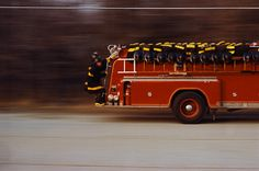 Speeding Fire Truck 1965 by Marvin Koner