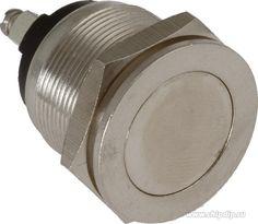 PBS28B-2, Кнопка без фиксации OFF-(ON) (2A 250VAC) (антивандальная)