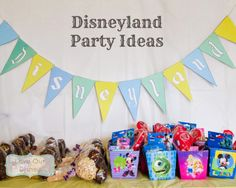 Love Our Disney: Throw a Disneyland Themed Party to Show Your Disney Side Cute ideas to incorporate each land as well as some great food ideas.