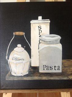 Stilleven pasta, 60 x 50, mei 2013