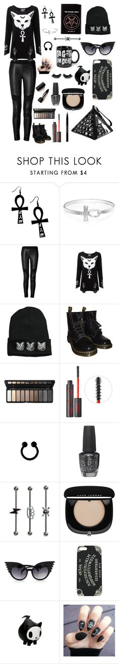 """Dark fashion style #93"" by xblackbettyx ❤ liked on Polyvore featuring Curiology, Bling Jewelry, Belstaff, Killstar, Dr. Martens, e.l.f., Kat Von D, OPI, Marc Jacobs and Urban Decay"