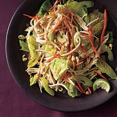 Thai Chicken Salad with Peanut Dressing | CookingLight.com