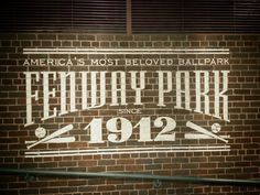 Fenway Park. Put on canvas. Sage green background, every thing else is brown.