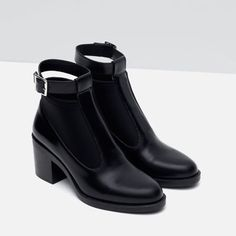 Image 4 of HIGH HEEL ANKLE BOOTS WITH STRAP from Zara