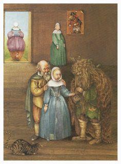 "Pauline Ellison illustrations for "" Grimm's Fairy Tales"""