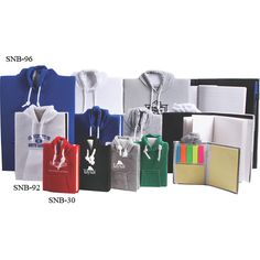 College Hoodie Notebook Great for keeping in stock at campus bookstores, this 70 sheet college ruled notebook is wrapped in a hoodie style sweatshirt material and is available in classic colors! This creatively designed school accessory comes with a matching pen so you can jot down notes while commuting to work. Ideal for collegiate athletic teams, alumni associations and recruitment centers it also makes a fitting fundraising prize or student incentive!