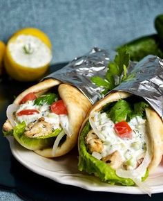 Chicken Gyros and Tzatziki Sauce