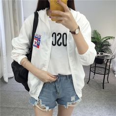Sunscreen Jackets Women 2017 New Fashion Women's Hooded Basic Jacket Casual Thin Windbreaker Female Outwear Women Coat