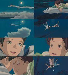"the most romantic scene in ""Spirited Away"" heheheh ^3^"