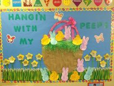 easter crafts easter bulletin board  Hangin' With My Peeps  #peeps and CTP's Butterfly Cut-Outs