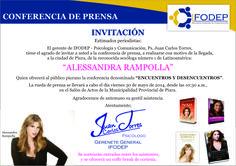 ¡ALESSANDRA RAMPOLLA EN PIURA! Quedas cordialmente invitado/a a la conferencia de lanzamiento del show interactivo que ofrecerá Alessandra, en Piura. ¡Habrá sorteo de entradas entre los asistentes!