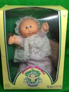 Vintage 1985 Cabbage Patch Kids Preemie Minnie Calli Original Box March Of Dimes #Coleco #Dolls