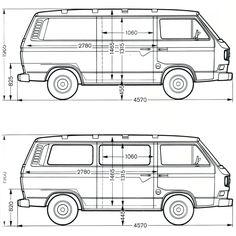 Volkswagen Transporter T3 blueprint