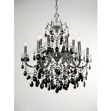 """View the Classic Lighting 57013-EP 37"""" Crystal Chandelier from the Via Venteo Collection at LightingDirect.com."""