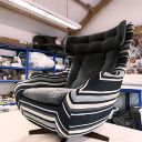 1960' Parker Knoll Egg/Statesman Swivel Chair brought back to life