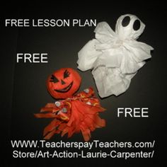 "ART ACTION - Halloween Heads-""Easyart"" and Fun! Plus, TPT Halloween products on sale."
