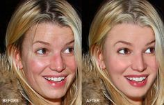 Jessica Simpson before and after photoshop