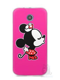 Capa Moto G2 Mickey e Minnie Beijo