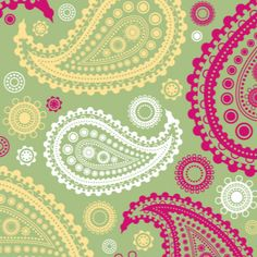 Pink & Yellow Paisley for binder cover