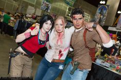 Chloe Frazer, Elena Fisher, and Nathan Drake #cosplay | Comikaze Expo 2013, taken by DTJaaaaM.com
