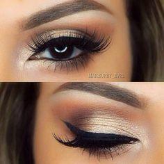 Gorgeous glowing golden smoky eyes.