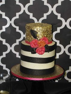 Check out this fabulous Kate Spade birthday cake at this 30th Birthday party!!! See more party ideas and share yours at CatchMyParty.com