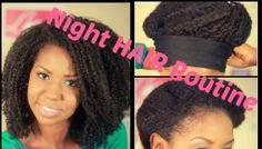 night hair routine