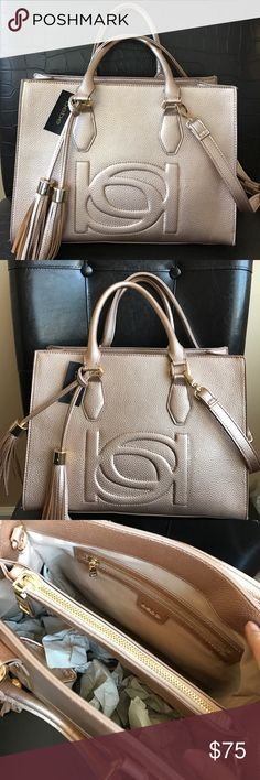 a78e583363b2 Bebe Rose gold Satchel Handbag Great bag absolutely adorable can be carried  as a satchel or